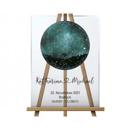 Sternenkarte Hochzeitsgeschenk aus Acryl, Acrylglas Schild Nachthimmel Sternenhimmel
