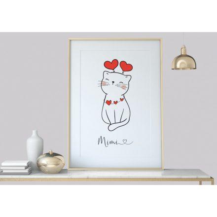 Katze Kunstdruck Poster Bild, Dekoration