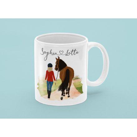 Geschenk für Pferdemenschen, Pfedeliebhaber Kermik Tasse