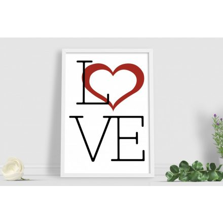 Love Text Poster