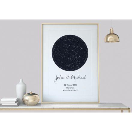 Custom Star Map, Night Sky Print, Star Map Poster