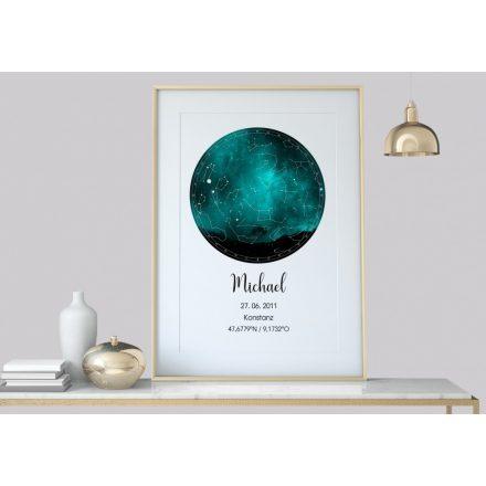 Personalisierte Sternenkarte, Sternenbild Poster