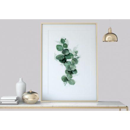 Eukalyptus Vintage Aquarell Poster Druck, Pflanzendruck