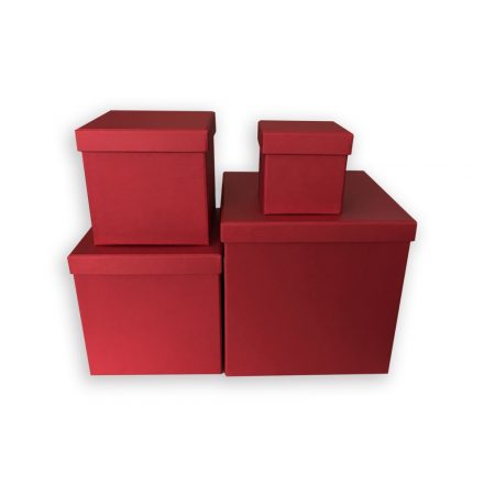 Handmade Premium Blumenbox Set - Weinrot
