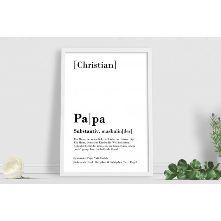 Papa Definition Text Poster