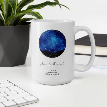 Sternenkarte Tasse, personalisiert