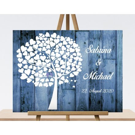 wedding tree, guest book with photo