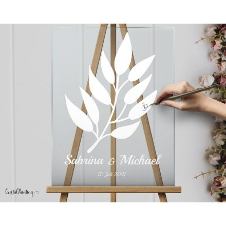 Acryl glass signs, unique and luxury look with the acrylic wedding sign.