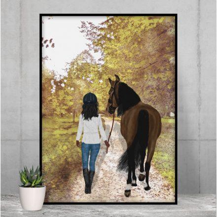 Pferdemädchen Pferdeliebe Geschenk Poster Bild