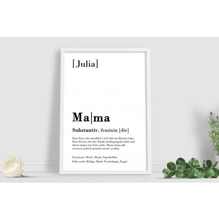 Mama Definition Text Poster