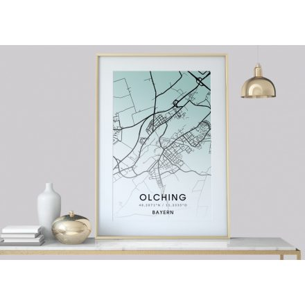 Stadt, Heimat Poster, Karte