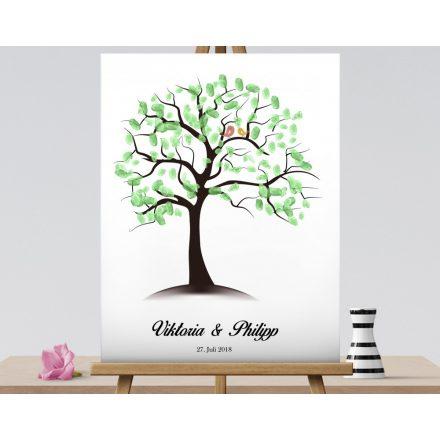 Fingerabdruck -Hochzeitsbaum , Wedding tree, Fingerabdruck - Baum