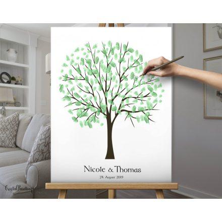 Fingerabdruck -Hochzeitsbaum , Wedding tree, Fingerabdruckbaum